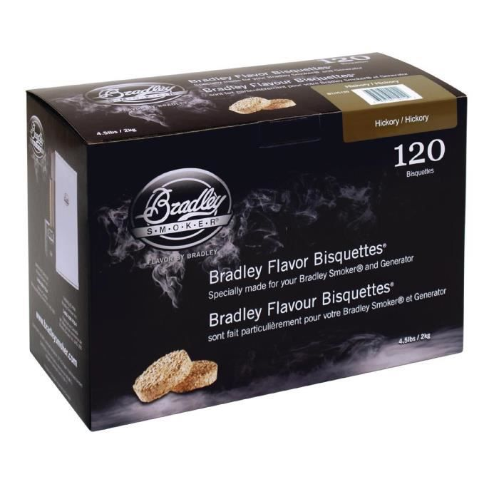 Bradley Hickory Pack Bisquettes 120