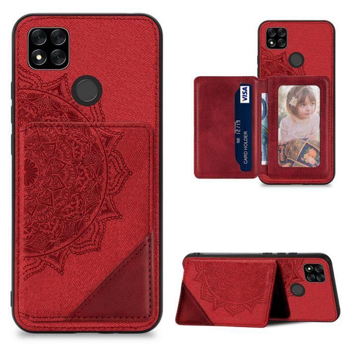 Coque Bumper TPU Pour Xiaomi Redmi 9C 6.53- : Bumper Mandala rouge