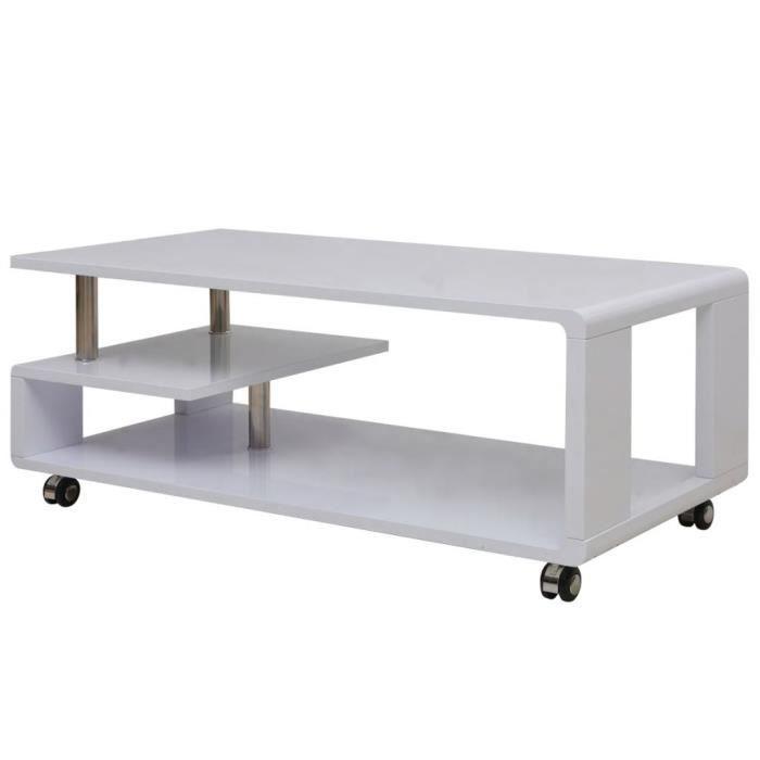 WIP Table basse brillante Blanc #3
