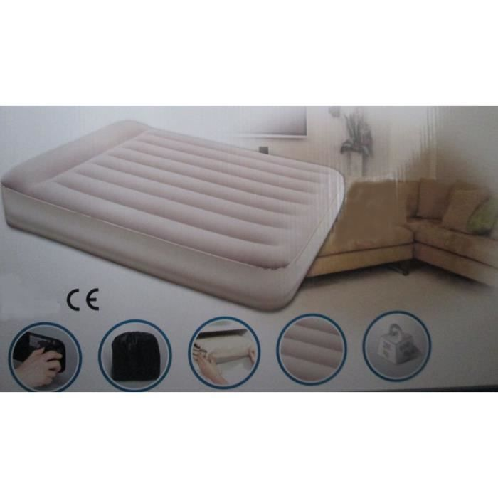 MATELAS 2 PERSONNES CAMPING MAISON GONFLABLE