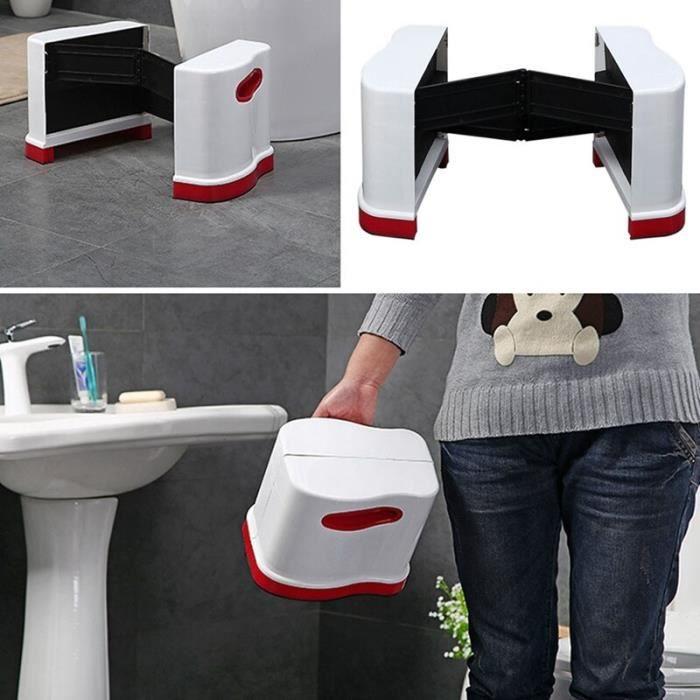 SKY Nouveau tabouret de toilette pliable tabouret Portable tabouret en plastique tabouret de salle de bain épais