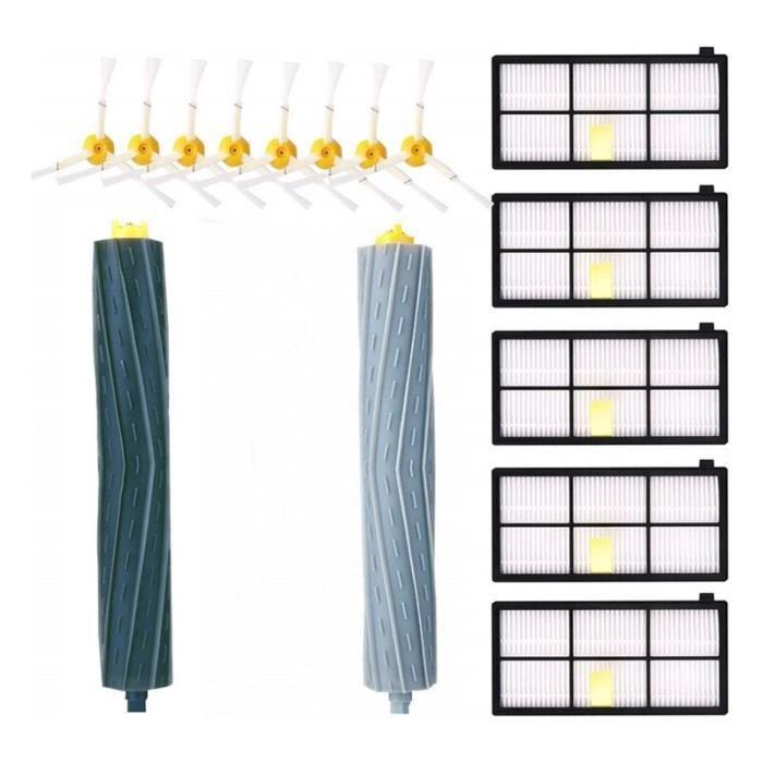 R5792 Kit d'accessoires pour IRobot Roomba 981 980 960 895 886 870 865 866 800 série 900, pièces de rechange 8 brosses latéral