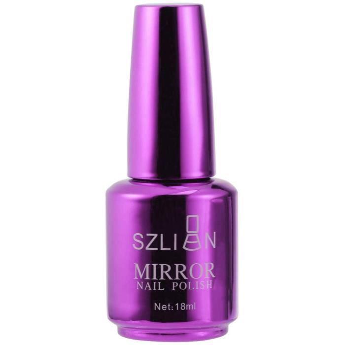 Luxshiny Vernis à Ongles Couleurs Métalliques Effet Miroir Vernis à Ongles Gel Brillant Manucure Vernis à Ongles (7 Violet)