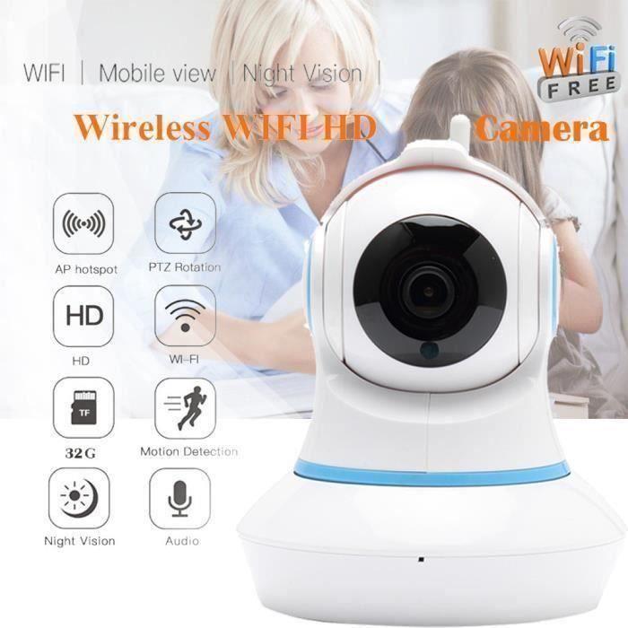 Accueil Sécurité HD 720P Accueil IP sans fil intelligent WiFi Audio caméra de surveillance de l'UE_W3956 A34452