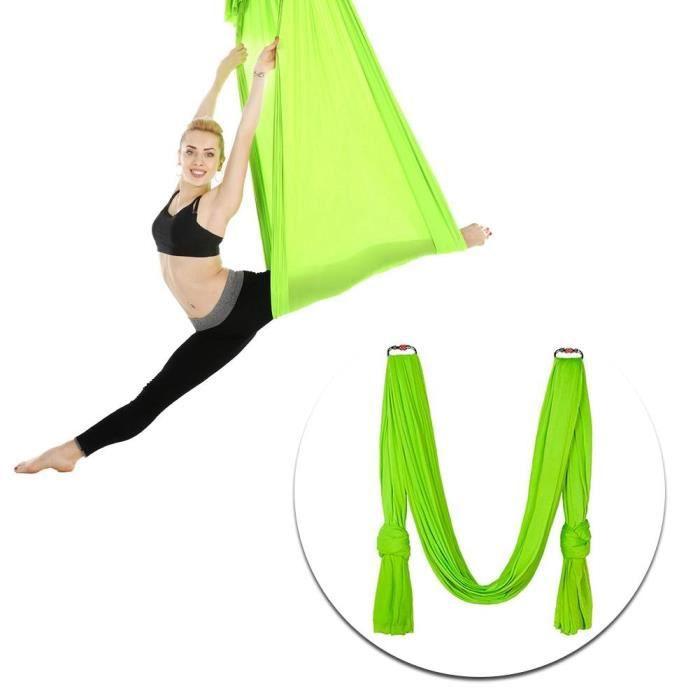 hamac de yoga aérien 2.8x1 m/9.2x3.3ft Durable Élastique Aérien Yoga Hamac Swing Accessoire D'entraînement De Remise En Forme