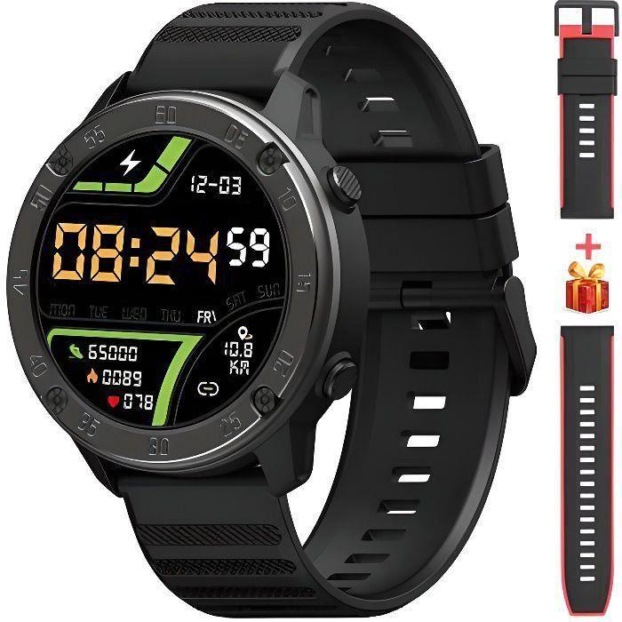 Blackview SmartWatch X5 Montre Connectée intelligente 9 Mode pour Sport Fréquence Cardiaque IP68 Moniteur de Sommeil Ultra - Noir