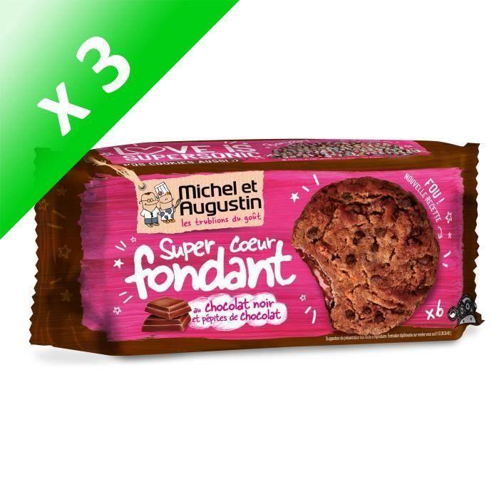 [LOT DE 3] Cookies cœur fondant chocolat 180g Michel et Augustin