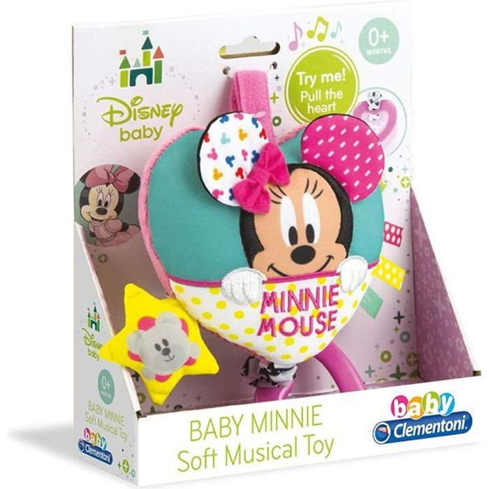 Clementoni Disney Baby Minnie Mouse Soft Carillon Musical Cot Jouet