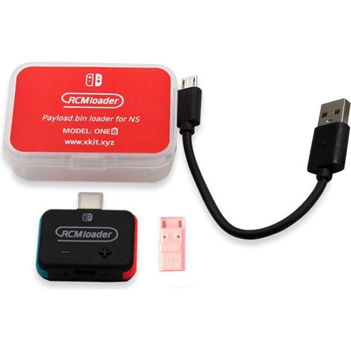 Chargeur RCM + Kit de gabarit RCM pour Nintendo Switch NS HBL OS SX Payload Dongle USB