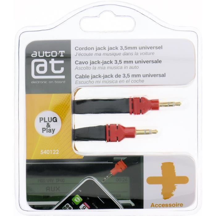 AUTO-T Cordon Jack/Jack 3,5mm 1,2m smartphone/MP3