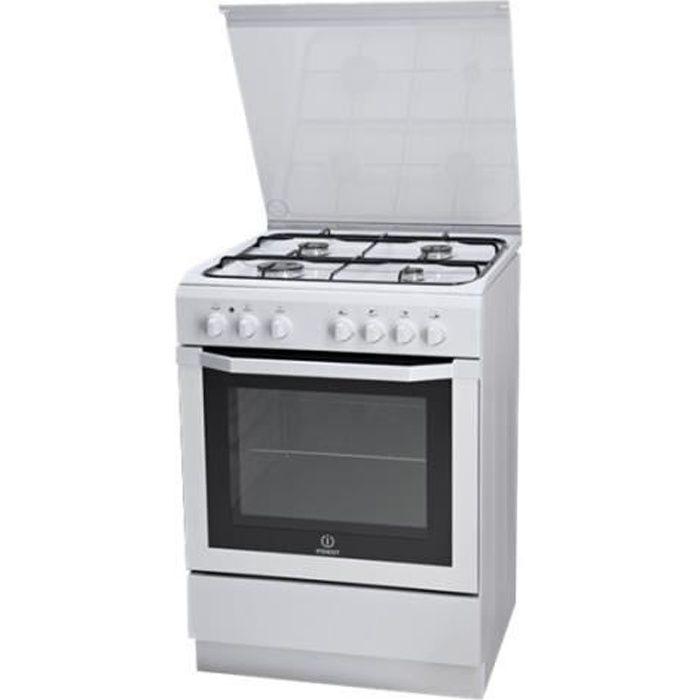 Indesit I6GSH1AF(W)-I Cuisinière pose libre largeur : 60 cm profondeur : 60 cm hauteur : 85 cm classe A blanc
