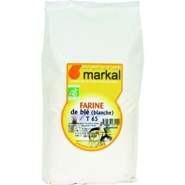 Farine de blé T65 (blanche), 1kg, Markal