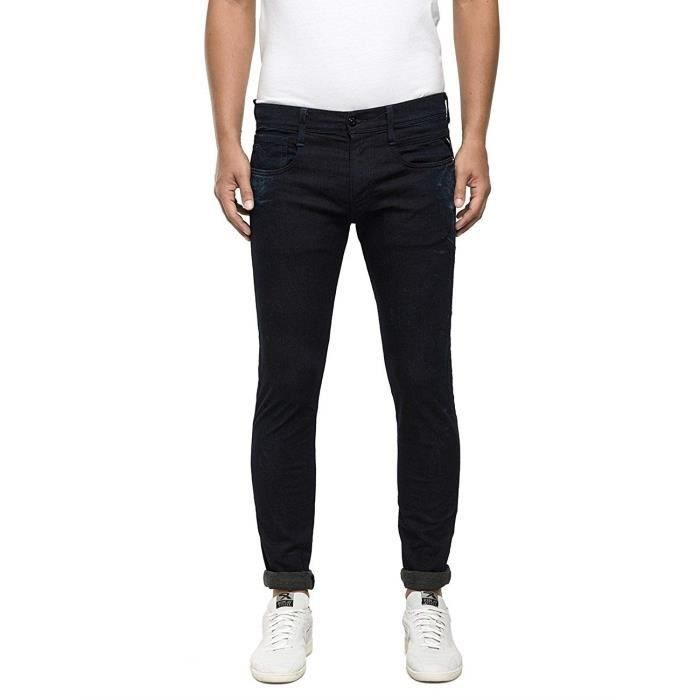 Replay Hyperfree Anbass, Jeans Homme, Bleu-Blau (Dark Blue 007), W34/L32 - M914 .000.49B A03-007