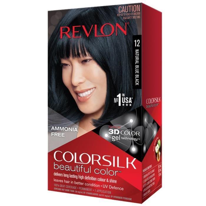 COLORSILK Coloration N°12 - Noir bleuté naturel - 59,1 ml