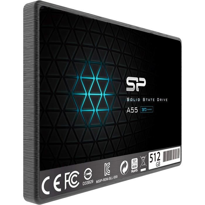 SILICON POWER Ace A55 Disque SSD 512 Go interne 2.5- SATA 6Gb-s