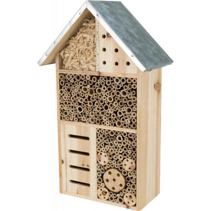 Hôtel pour insectes . Hauteur 49 largeur 29 profondeur 16 cm .-Trixie 29,000000