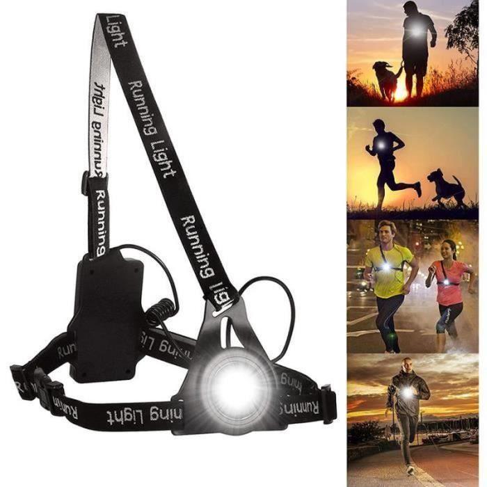 GR15032-Lampe de course LED rechargeable USB-Étanche-Légère- Lumière parfaite pour le jogging,la pêche,le camping des enfants