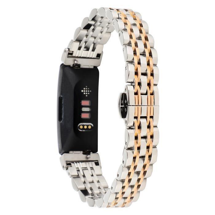 BRACELET MONTRE CONNEC. Remplacement en acier inoxydable Perle Bracelet Br