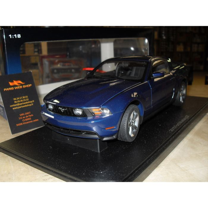 ford mustang gt 2010 autoart 1 18e achat vente voiture camion cdiscount. Black Bedroom Furniture Sets. Home Design Ideas