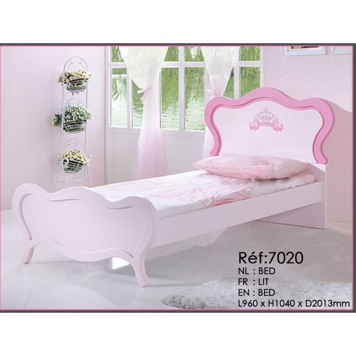 lit enfant pour fille princesse rose achat vente lit. Black Bedroom Furniture Sets. Home Design Ideas