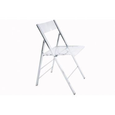 Chaises pliables transparentes table de lit - Chaises pliantes transparentes ...