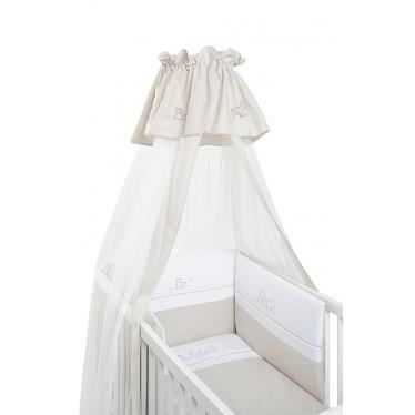 voile de lit et berceau abc taupe et blanc coton achat vente ciel de lit b b 2009966962122. Black Bedroom Furniture Sets. Home Design Ideas