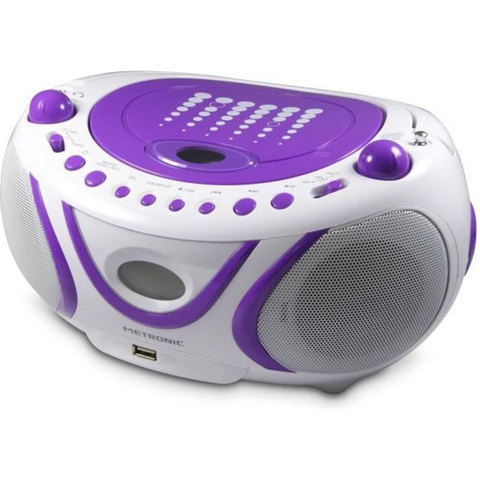met 477112 radio cd mp3 pop purple radio cd cassette avis et prix pas cher les soldes sur. Black Bedroom Furniture Sets. Home Design Ideas