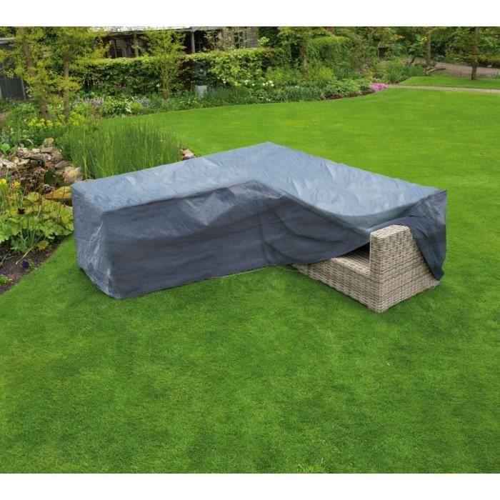 Housse de protection canapé d\'angle de jardin