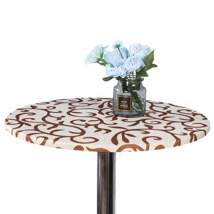TABLE À MANGER SEULE ChampagneNappe de protection ronde lavable 60 cm p