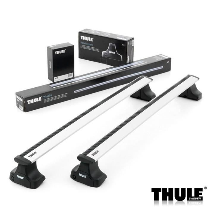 barres de toit thule wingbar 961 pour dacia sandero avec hayon 5 portes de 2008 2012 achat. Black Bedroom Furniture Sets. Home Design Ideas