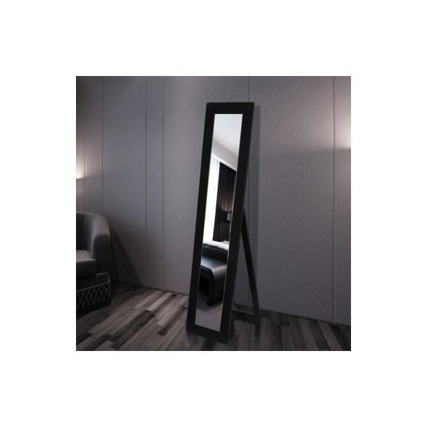 superbe miroir en pied noir achat vente miroir cdiscount. Black Bedroom Furniture Sets. Home Design Ideas