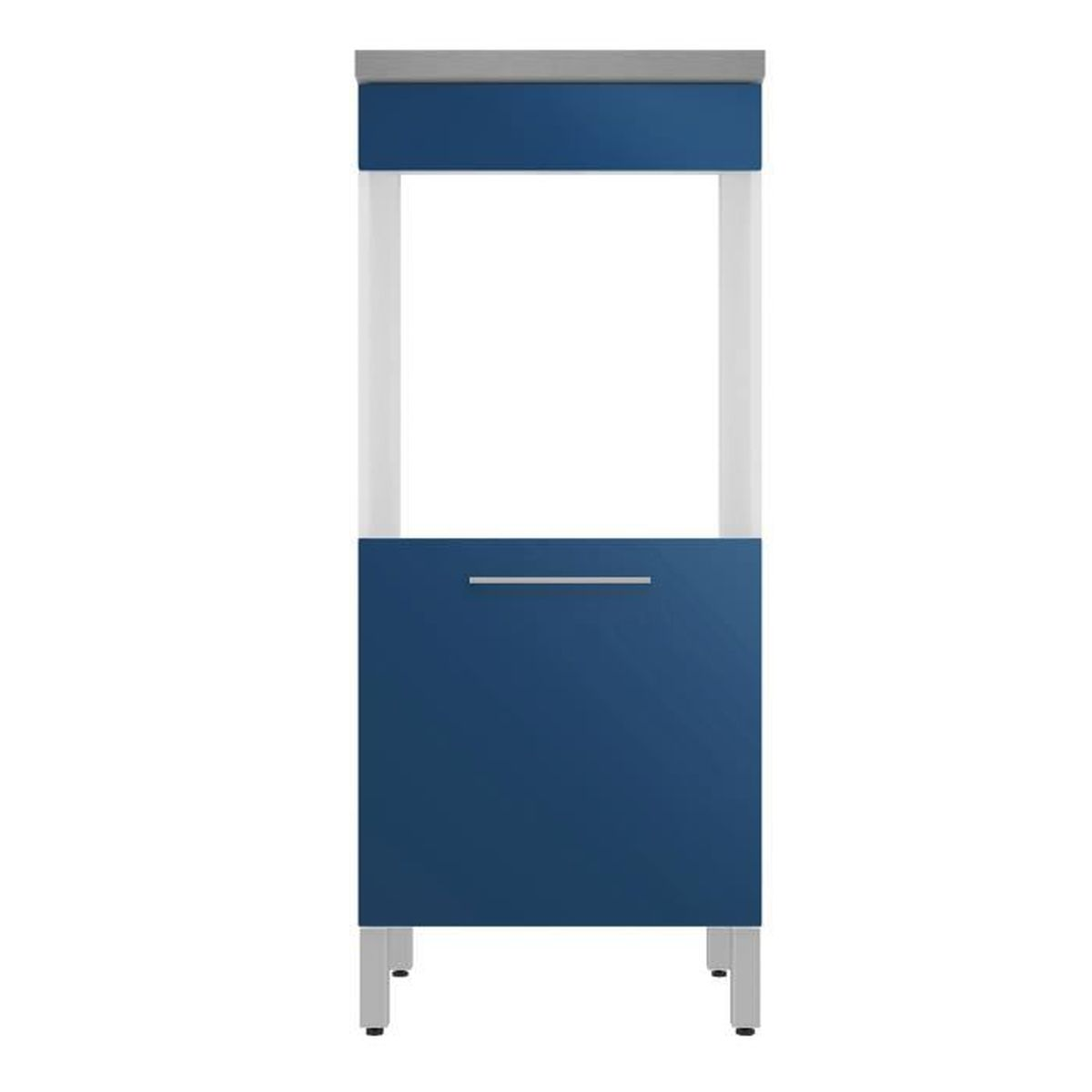 elia meuble de cuisine armoire pour four bleu 60cm bleu. Black Bedroom Furniture Sets. Home Design Ideas