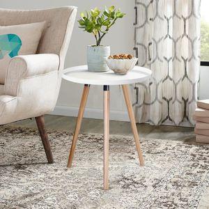 TABLE D'APPOINT Petite table d'appoint ronde en métal style scandi