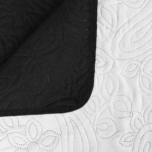 JETÉE DE LIT - BOUTIS R180 Couleur Blanc et noir Stockholm Restez au cha