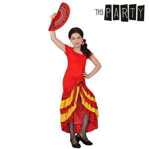 DÉGUISEMENT - PANOPLIE Costume de danseuse de Sévillane rouge et jaune -