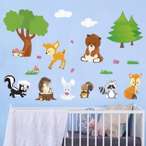 STICKERS decalmile Stickers Muraux Animaux Forêt Autocollan