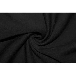 TISSU Tissu Molleton Terry Noir -Au Mètre