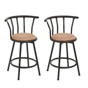 TABOURET DE BAR FurnitureR Lot de 2 Tabourets de Bar Chaises de ba