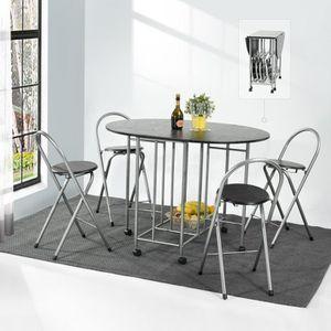 TABLE À MANGER COMPLÈTE Table de salle à manger avec 4 chaises pour la cui