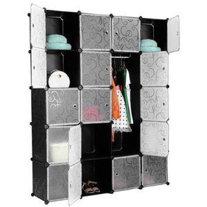 ARMOIRE DE CHAMBRE Armoires Étagères Plastique 20 Cubes DIY Modulaire