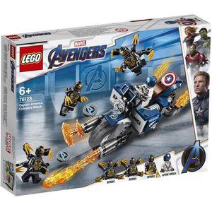 ASSEMBLAGE CONSTRUCTION LEGO® Marvel Super Heroes 76123 - Captain America