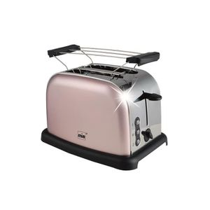 GRILLE-PAIN - TOASTER Mia-Germany - TA 4712 RG - Grille-pain inox rétro