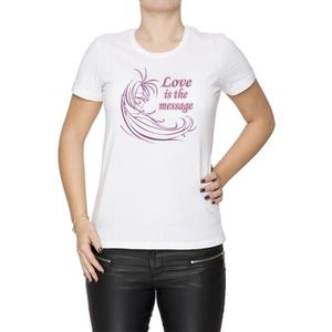 T-SHIRT Tee-shirt - Love Is The Message Femme Cou D'équipa