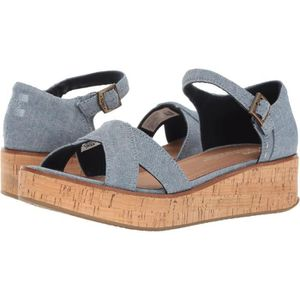 CHAUSSON - PANTOUFLE Toms Harper Denim Chambray Wedge EI9DL Taille-36