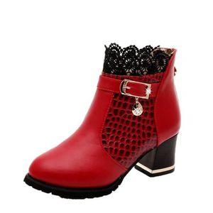 BOTTINE Femmes Talon Lacet De Soiree Chaussures Compensé D