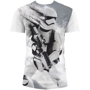 T-SHIRT STAR WARS T-shirt Stormtrooper Snow EP7 Blanc Enfa