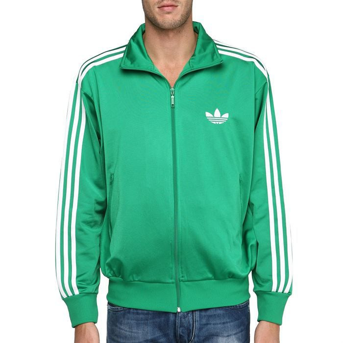 adidas veste zipp e adi firebird tt homme vert et blanc. Black Bedroom Furniture Sets. Home Design Ideas