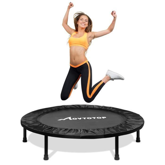 Trampoline de Fitness Pliable Trampoline de Gym 40 pouces Poignée réglable
