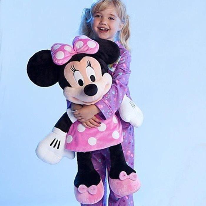 Peluche QKDKQ Disney Store Grand - Jumbo 27 Minnie Mouse en peluche peluche Poupée caractère par