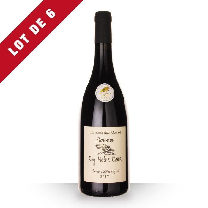 Lot de 6 - Domaine des Matines Vieilles Vignes 2017 AOC Saumur Puy Notre-Dame - 6x75cl - Vin Rouge